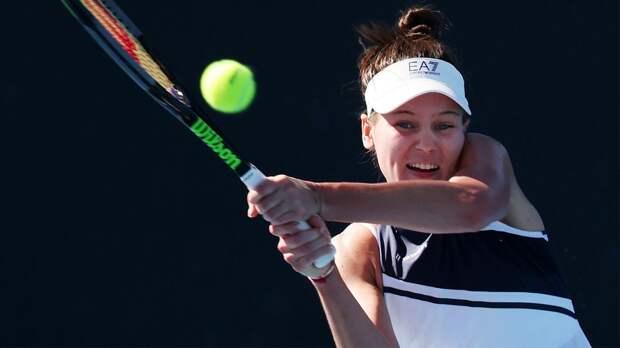 Кудерметова вышла в полуфинал турнира в Чарльстоне