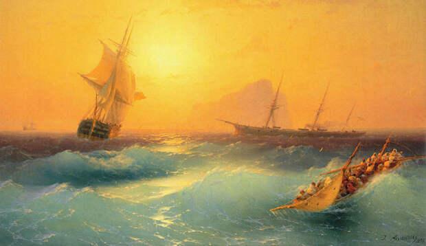 Фантастические светящиеся волны от русского мариниста XIXвека