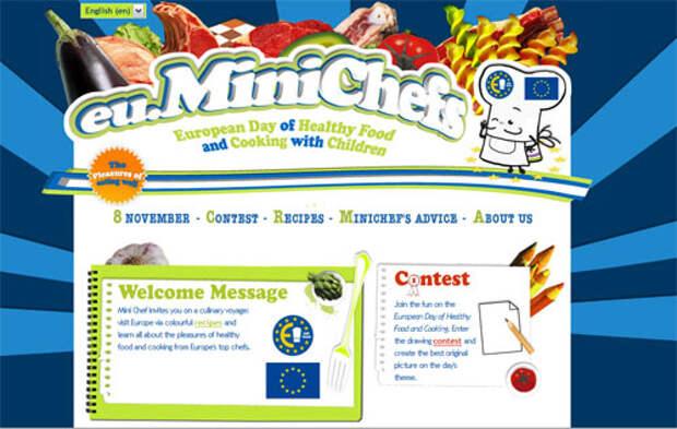 Скриншот образовательного сайта по борьбе с детским ожирением