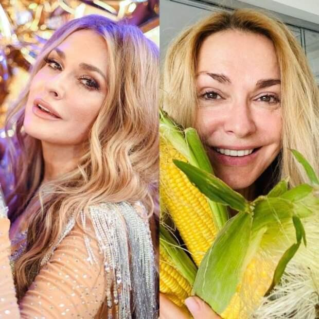Ольга Сумская с макияжем и без