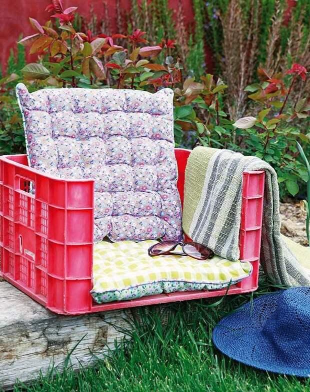 Дачное кресло из ящика