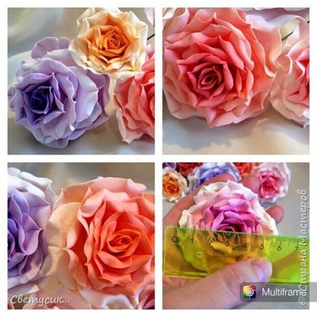 Мастер-класс Флористика искусственная Лепка МК розы из ХФ как и обещала Фарфор холодный фото 26