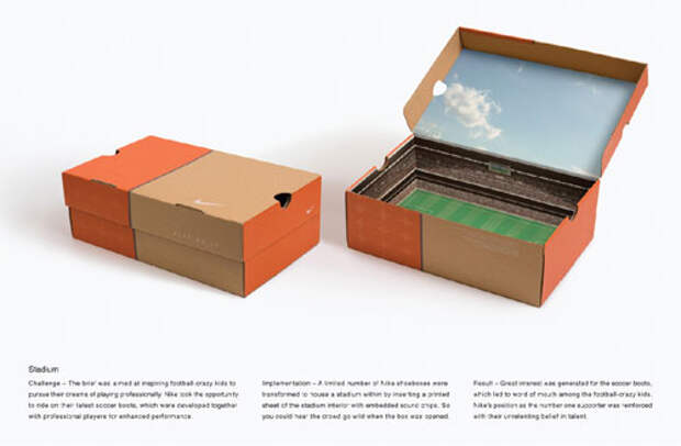 Стадион в коробке из-под обуви