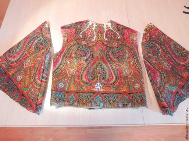 Деловое платье (и жакет) из платка (Diy)