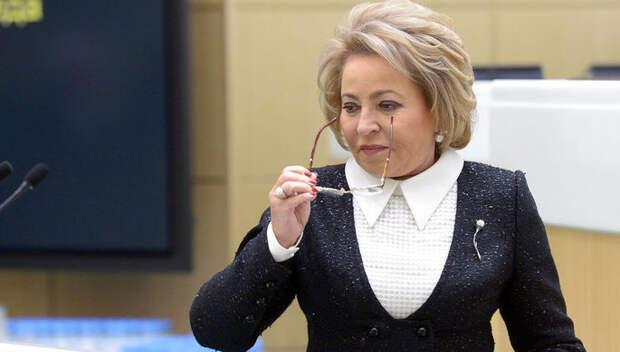 Валентина Матвиенко отчитала сенаторов