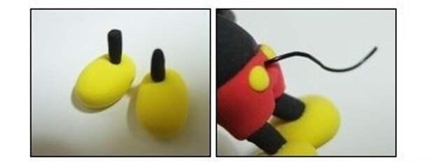 мышка из полимерной глины