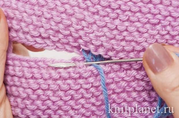 Трикотажные швы при вязании спицами