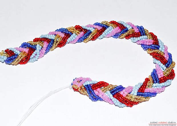 Уроки создания браслета из бисера своими руками. Материалы бесплатно.. Фото №3