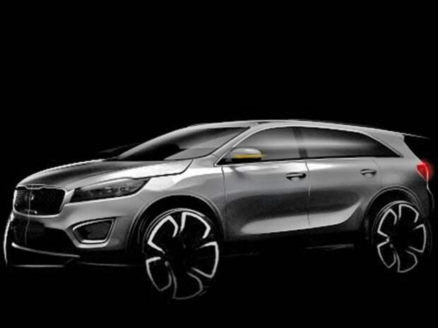 Новый Kia Sorento появился на первых официальных скетчах и видео
