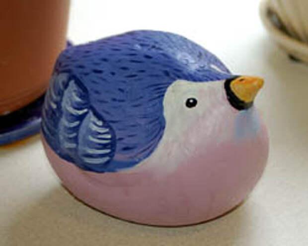 Plaster of Paris bird