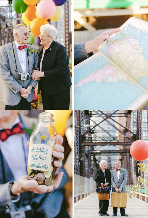2. Эта пара отпраздновала 61 год со дня свадьбы  вера, любовь, пара