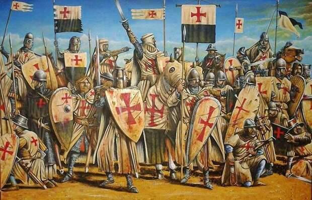 Крестовый поход. С картины художника. Фото из открытых источников