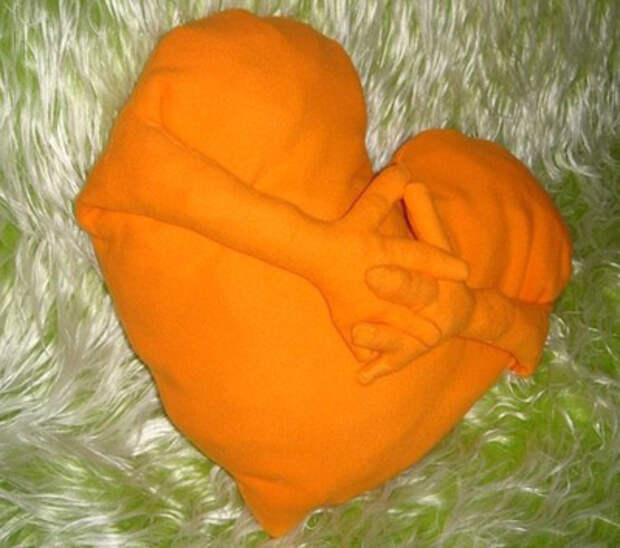 Сердце подушка своими руками
