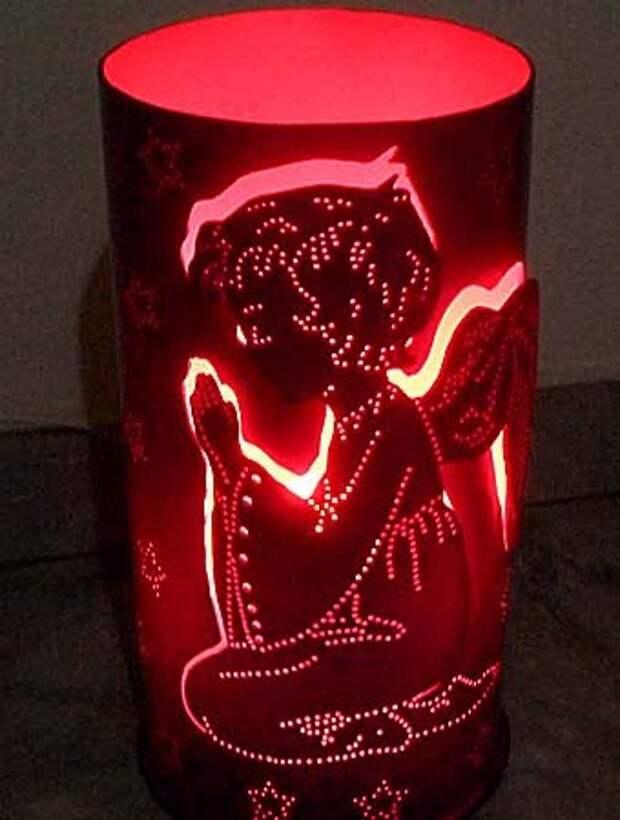 светильник для детской комнаты Ангел, который сделан из пвх трубы