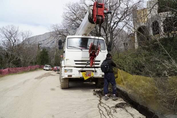 После приезда комиссии Совета министров застройщик начал приводить в порядок  территорию Форосского парка