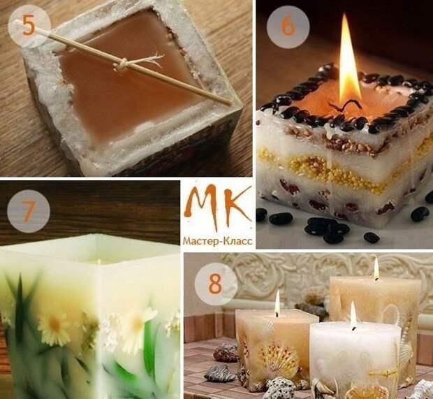 Оригинальные свечи. Делаем красоту своими руками