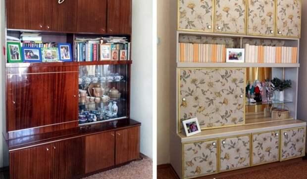 Переделка советской стенки Редизайн, переделка, советская мебель