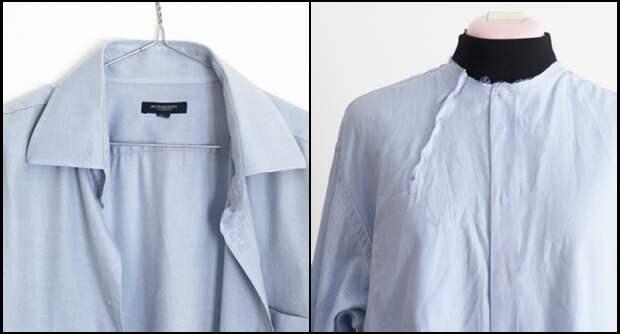 Необычная переделка рубашки в блузку (Diy)