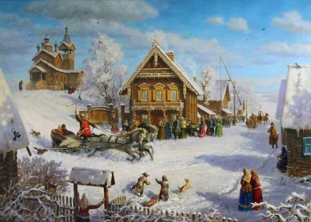Праздник-в-сибирской-деревне.-Тройка.-2013-год.jpg
