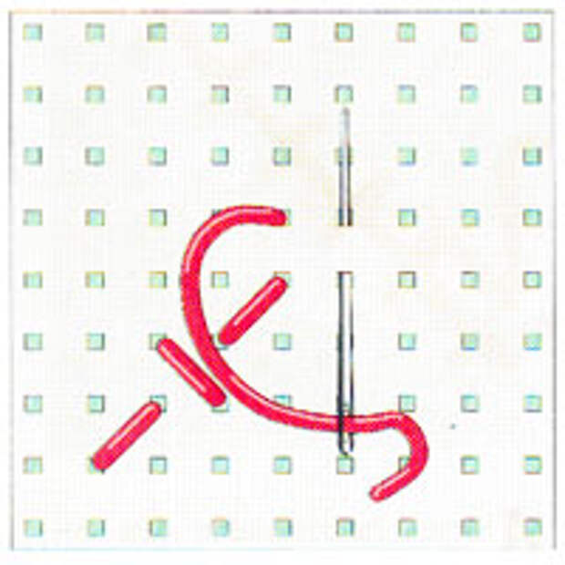 Вышивка крестиком по диагонали. Простая диагональ (фото 4)