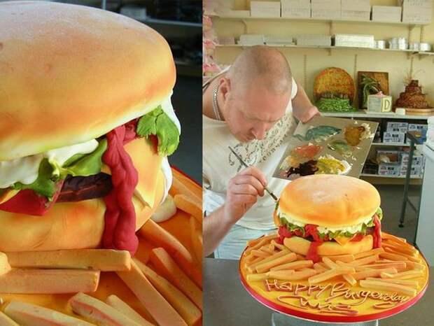 Бургер-торт еда, торт