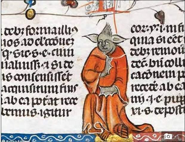 В средневековом манускрипте нашли изображение магистра Йоды из «Звёздных войн»
