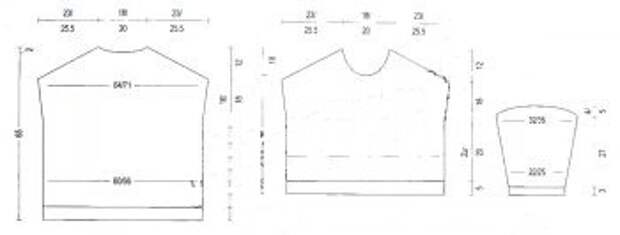 Ассиметричный свитер со спущенным плечом (Diy)