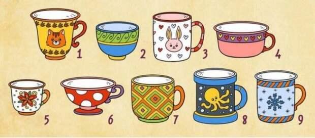 картинка с чашками тест