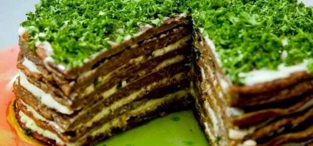 Печёночный тортик и блины