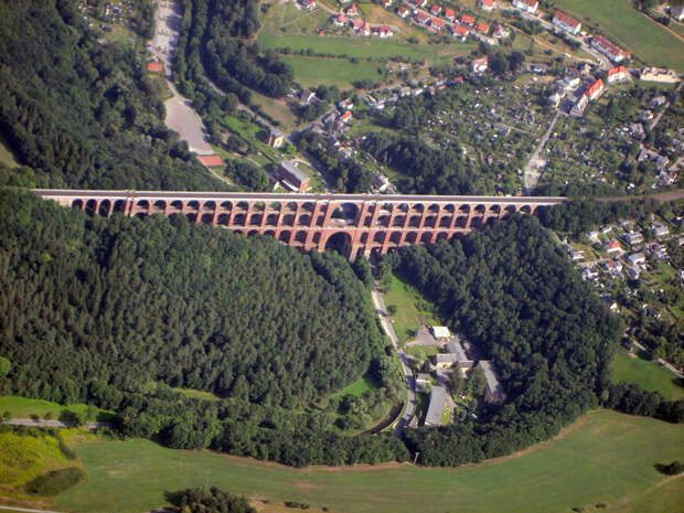 Виадук Гёльчтальбрюкке — самый высокий кирпичный виадук на планете