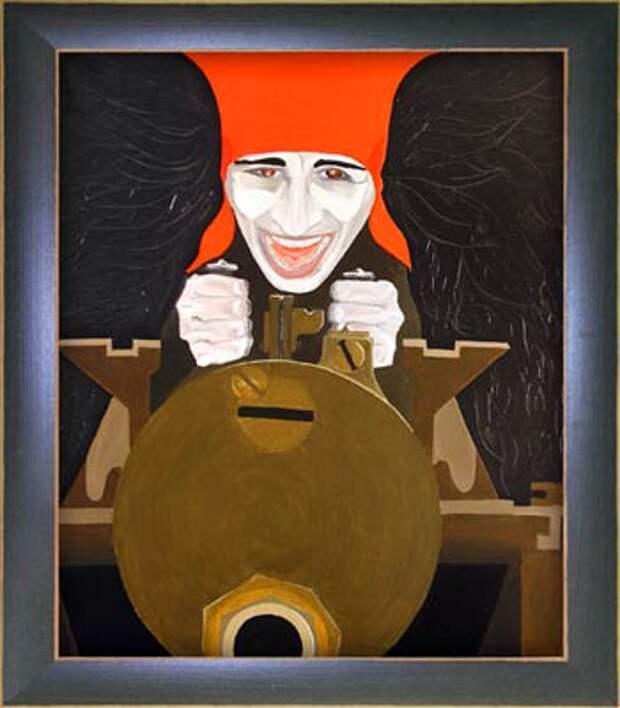 Анка-пулемётчица. Худ.: Макс Колоров. 2004 год, холст, масло