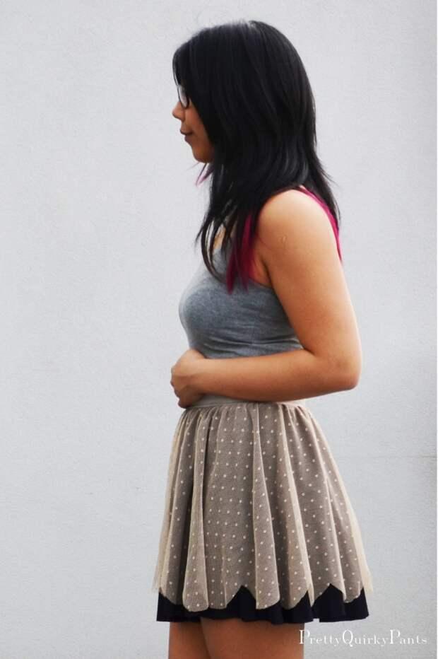 Двойная юбка с фатином (Diy)