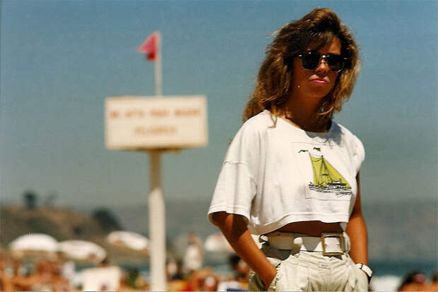 Цветные фотографии пляжной жизни Чили в1980-е годы