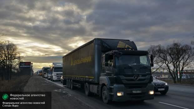 Свыше 320 украинских фур отправились на штрафстоянки в России