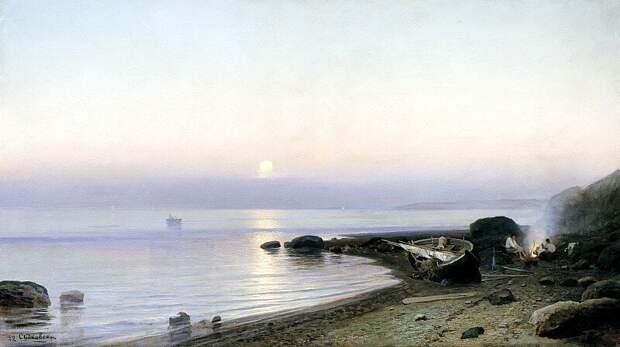 Руфин Судковский. «На берегу моря». 1882 г.