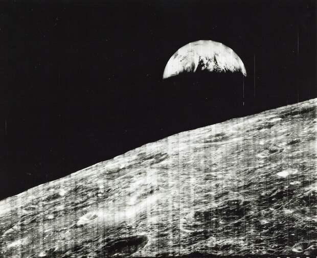 1966, 23 августа. Первый вид Земли с Луны
