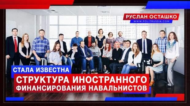 Стала известна структура иностранного финансирования навальнистов