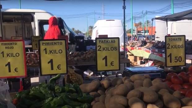 Испания, Малага, прогулка по рынку, обзор цен. Январь 2021 года