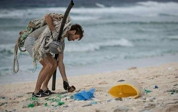 Необитаемый остров пал жертвой пластикового мусора