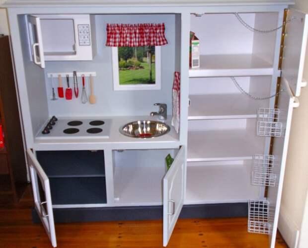 Детская кухня из тумбочки под телевизор (Diy)