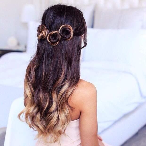 Пример причёски для омбре окраса