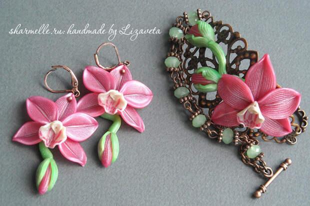 Орхидеи из полимерной глины своими руками