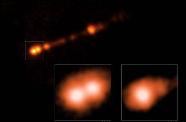 Сверхмассивная черная дыра выбросила в сторону Земли мощные джеты