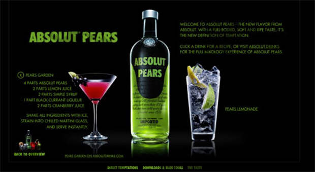 Absolut Pears: кампания для цифровых музыкальных автоматов