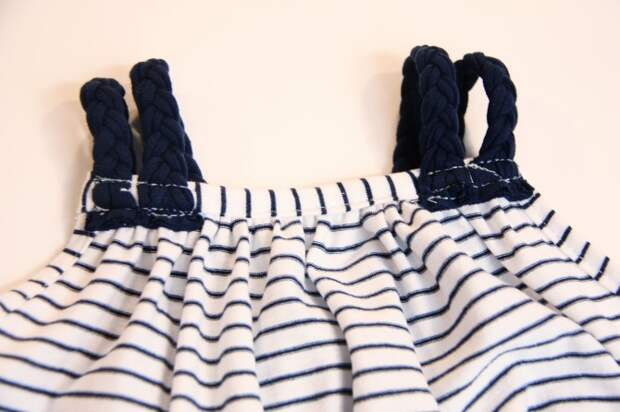 Как сделать тунику с лямками - косичками для  ребенкаКак сделать тунику с лямками - косичками для  ребенка