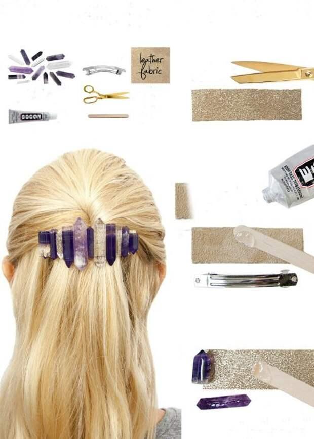 Камни в волосах (2Diy)