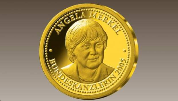 Культ личности Меркель: вГермании отчеканили золотую монету сизображением «Мутти»