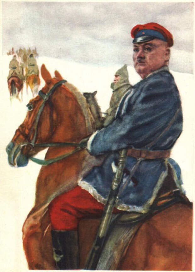 Григорий Котовский на открытке ИЗОГИЗ, СССР.jpg
