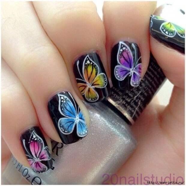 Как нарисовать бабочку на ногтях (37) (600x600, 197Kb)