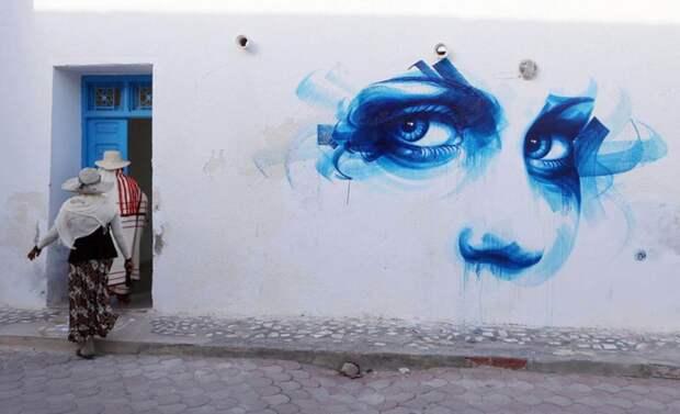 150 уличных художников из 30 стран, превратили старую деревушку Эр-Рияд в Тунисе в настоящую галерею под открытым небом (2)